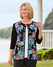 Carefree Textured Two-Fer Top