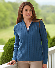 Half Zip Cable Sweater