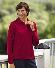UltraSofts® Long Sleeve Polo