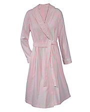 Stripe Flannel Wrap Robe