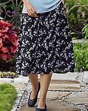 Whispering Floral Challis Skirt