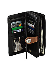 Large Zip Around Leather Wallet