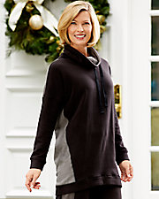 Fleecewear with Stretch Lounge Long Sleeve Tunic