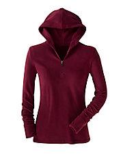 Fleecewear  Long Sleeve Half Zip Hoodie