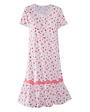 Rosy Short Sleeve Gown
