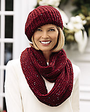 Shimmer Hat and Scarf Set