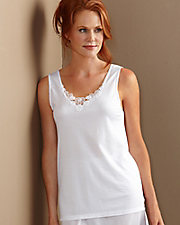 Cuddl Duds® Medallion Lace Camisole
