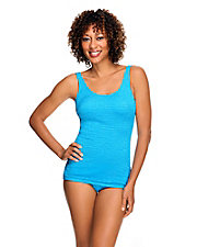 Scoop Neck Sheath Swimsuit