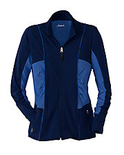 Azure Blue Long Sleeve Zip Jacket