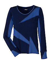 Azure Blue Long Sleeve Novelty Tee