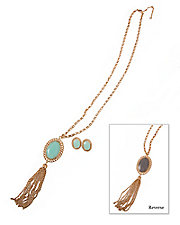 Reversible Tassel Necklace