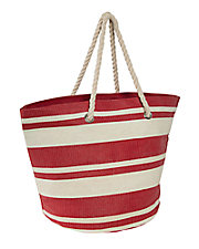 Straw Striped Beach Bag