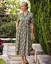 Whispering Floral Challis Dress