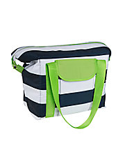 Preppy Stripe Convertible Cooler Bag