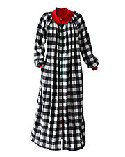 Zip-Front Fleece Robe
