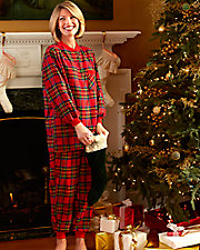 Plaid Flannel Ski Pajamas