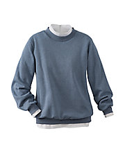 Heathered Long Sleeve Sweatshirt