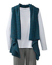 High-Lo Marled Sweater Vest