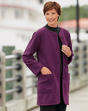 Button Front Fleece Coat