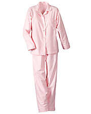 Long Sleeve Woven Striped Pajamas