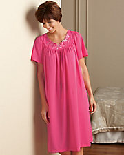 Embroidered Roses Nightgown