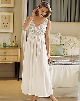 Silken Luxury Long Nightgown