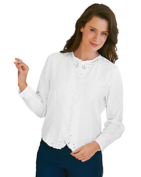 White Long Sleeve Weskit Blouse