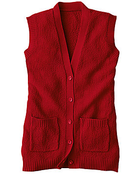 Camel Scramble Stitch Sweater Vest