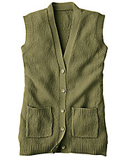 Wine Scramble Stitch Sweater Vest