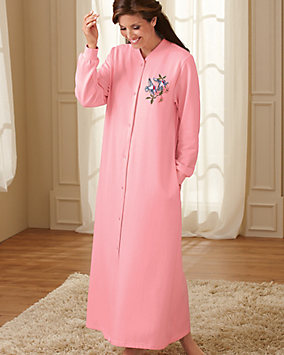 Snap Front Fleece Robe