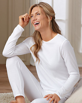 Cuddl Duds® Tailored Long Sleeve Thermal Top