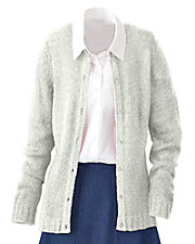 Cream Bouclé Cardigan Sweater
