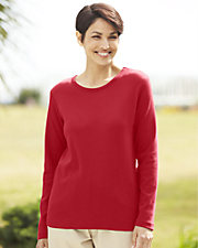 UltraSofts® Long Sleeve Picot-Trim Tee