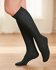 Merino Wool Blend Knee High Socks