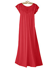 Silken Luxury Cap-Sleeve Nightgown