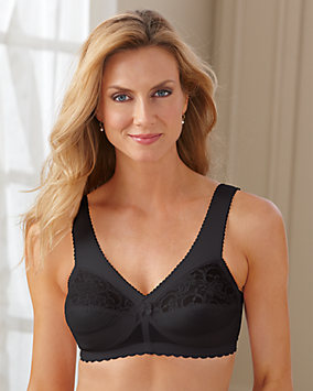 Magic Lift® Back Closure Lace & Nylon Soft-Shoulder Support Bra