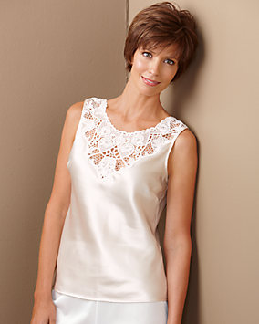 Lace Medallion Satin Camisole