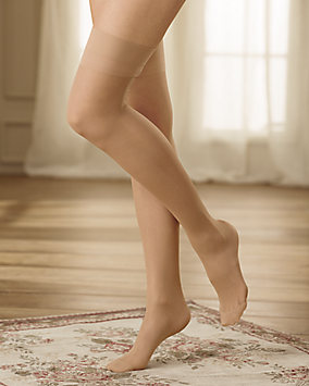 Sheer Run Resistant Support Stockings