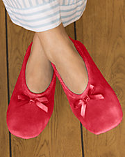 Velour Ballerina Slippers