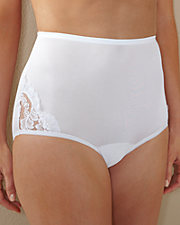 Lace Inset Nylon Brief