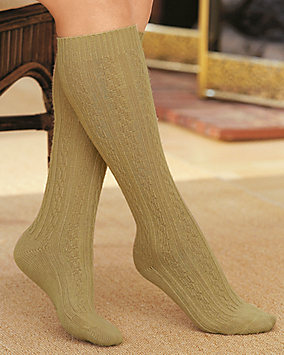 Washable Wool Blend Knee High Socks