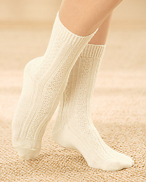 Washable Wool Blend Crew Socks