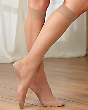 Sheer Cotton Sole Knee High