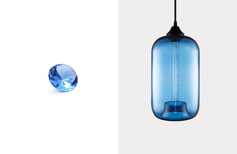 Sapphire Contemporary Colored Glass