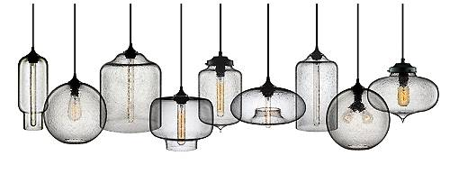 Modern Pendant Lights in Bubbled Effervescent