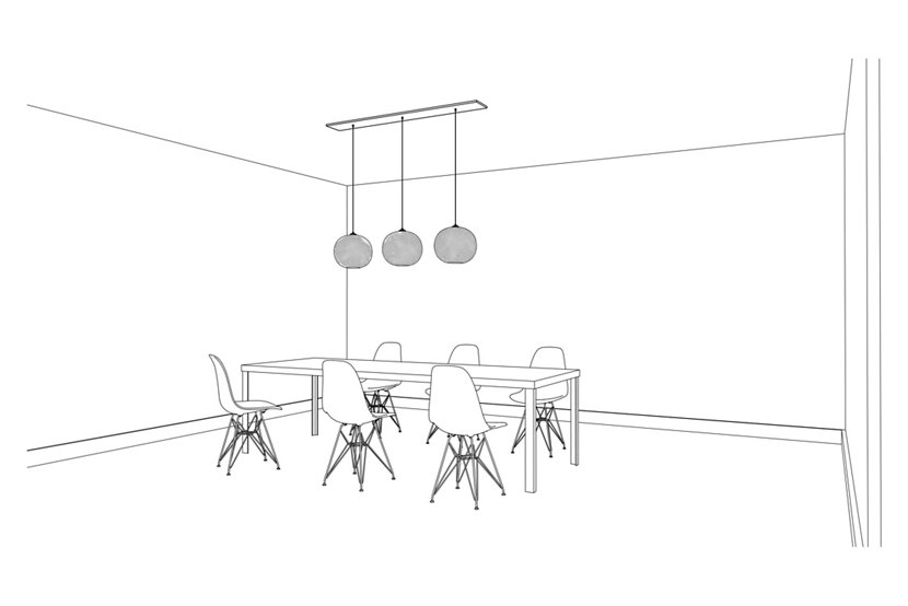 Hang Terra Pendants from Linear-3 Large Canopy