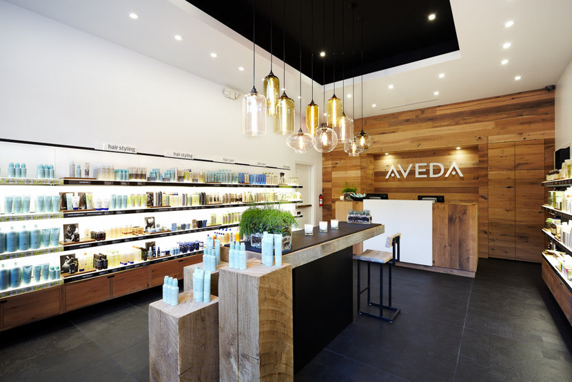 Retail Modern Lighting in Aveda Canada