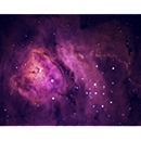 Close up inside The Lagoon Nebula M8