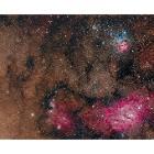 M20, M8 and NGC6559