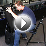 Features of the Orion Deluxe Quick-Adjust Observer's Chair